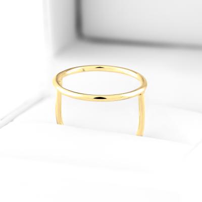 Minimalistický zlatý prsten s kruhem NORE