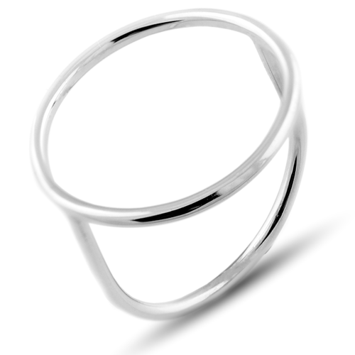 Minimalistic gold ring with the circle NORE