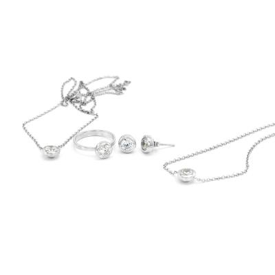 Stříbrný prsten se zirkonem ORELIA