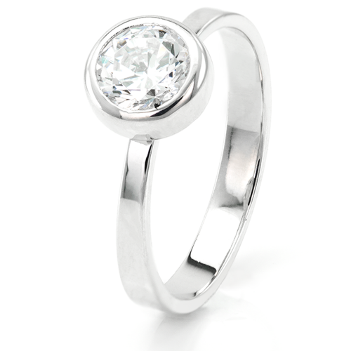 Engagement ring with moissanit 0.79ct - ORELIA
