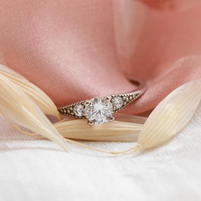 ORSET gold diamond engagement ring