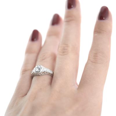 Platinum ring with diamonds 0.68ct OSLO