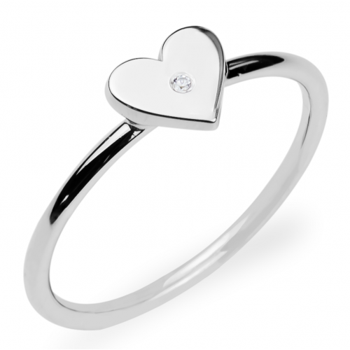 PATRICIA Heart shape gold diamond ring