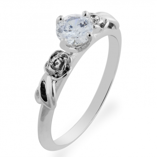 PENI gold moissanite engagement ring