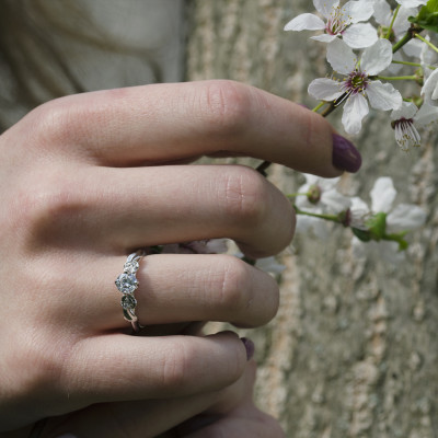 PENI gold moissanite engagement ring