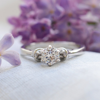 RISTE diamond engagement ring 0.4ct