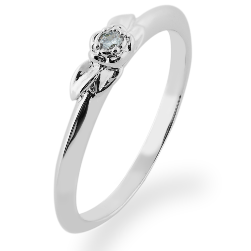 ROSNI gold diamond engagement ring