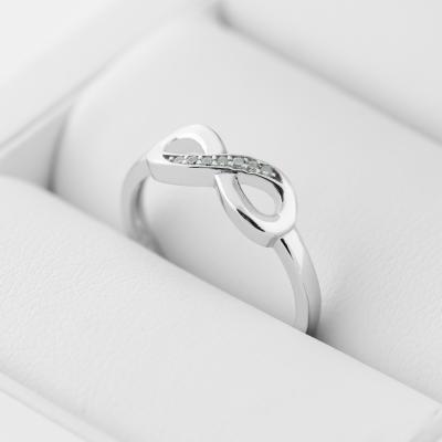 SALVIN infinity gold diamond ring