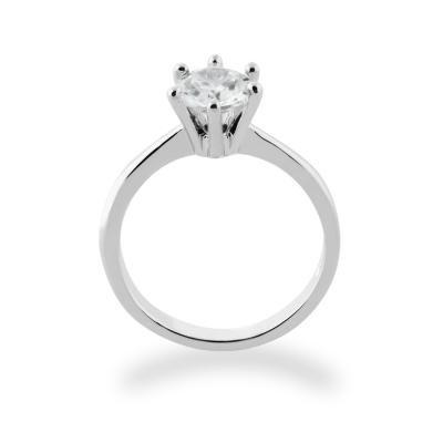 Zásnubní zlatý diamantový prsten STAMI