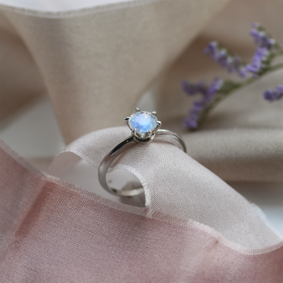 Gold ring with moonstone TONI