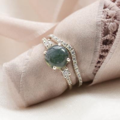 Zlatý eternity prsten s diamanty Tiernan