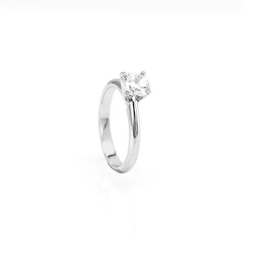 Soliter ring with diamond VEITA