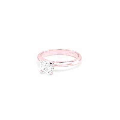 Zlatý zásnubní prsten  ve stylu solitér s diamantem 0.4ct VEITA