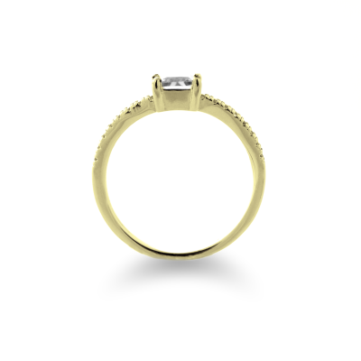 VIBKE gold and diamond 0.6ct dressing engagement ring - harmony in each stone