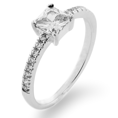 VIBKE platinum engagement ring with diamonds 0.6ct