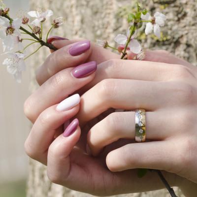 AFYLA combination gold diamond wedding rings