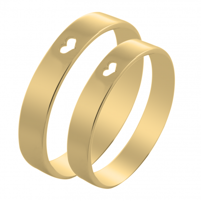 ALISA heart shape gold wedding rings