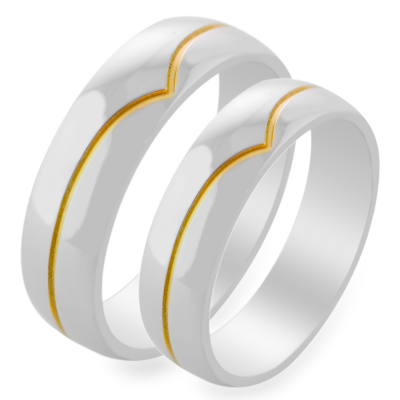 ARIES gold marriage rings