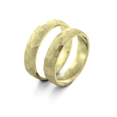 Tepané snubní prsteny z bílého zlata BOME