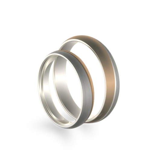 BRANS combination gold wedding rings