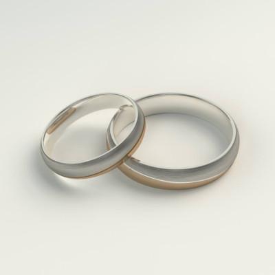 Snubní prsteny z kombinovaného zlata BRANS