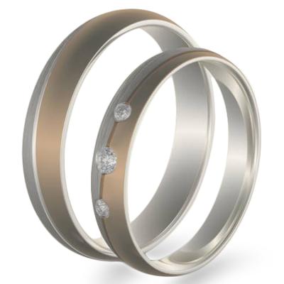 BRONS combination gold diamond dressing wedding rings