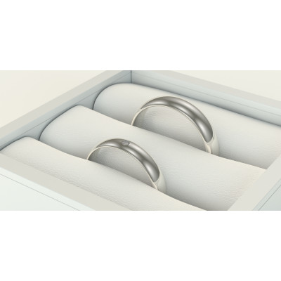 Solid wedding rings made of platinum