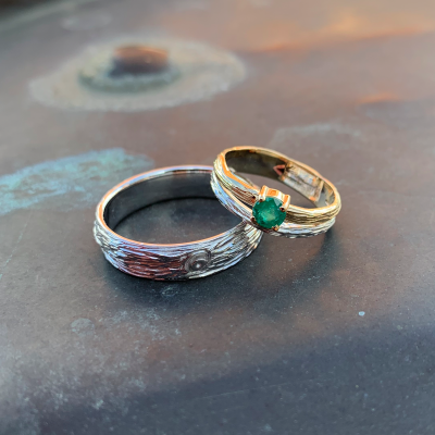 Unique gold wedding rings DRIS