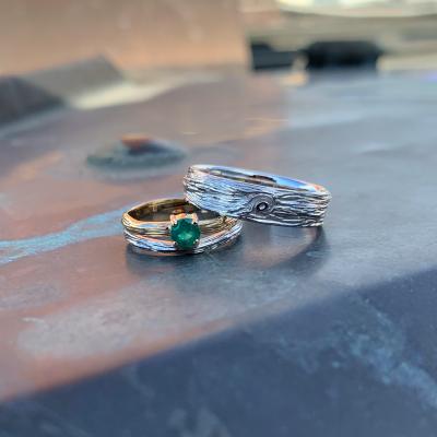 Unique gold wedding rings DRIS