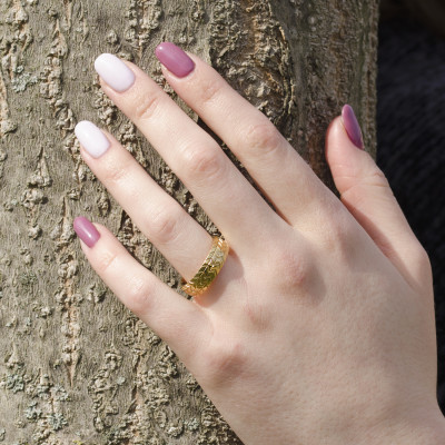 FAYE tyre shape gold wedding rings