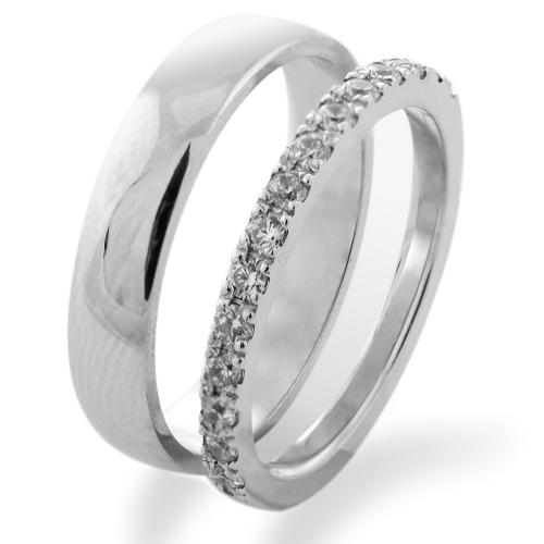 FEME platinum diamond wedding rings