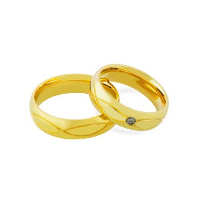 Zlaté snubní prsteny s diamantem HERA