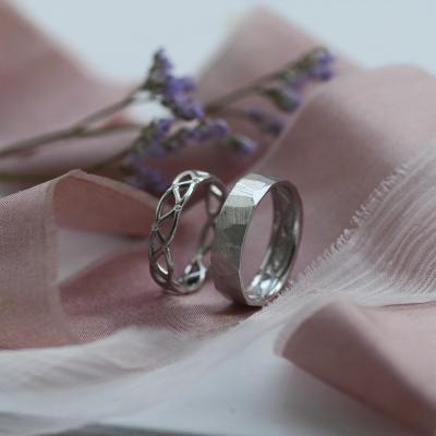 Bright Celtic Wedding Rings Set JAZ