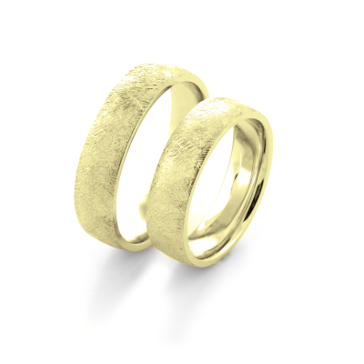 Original textured wedding rings KAWI - strong love for years