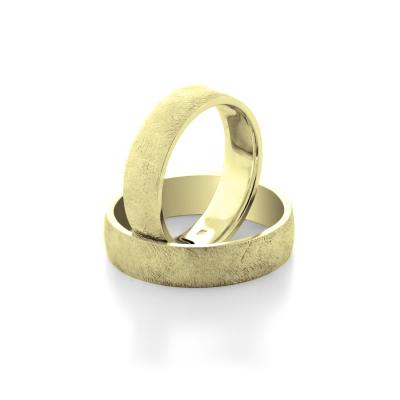 Netradiční snubní prsteny z bílého zlata KAWI - společně na dlouhá léta