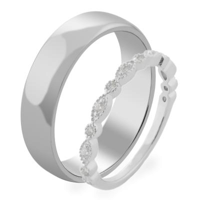Zlatý snubní prsteny s diamanty LATI