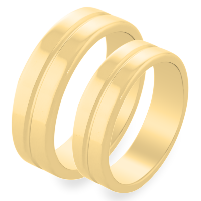 Simple gold wedding rings LAVINA