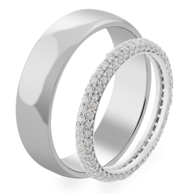 LERE wedding rings - shining of gold and brilliance of diamonds (1.14ct)