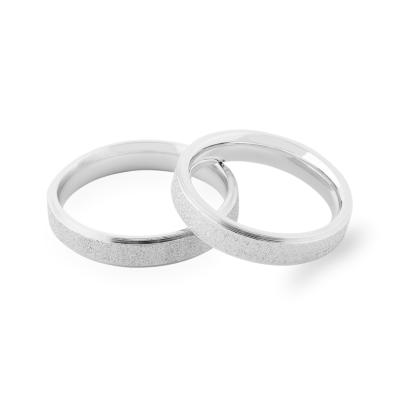 LIDE matte combination gold wedding rings