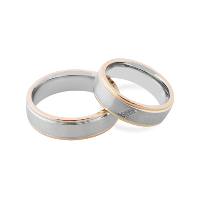 LILLE combination gold diamond marriage rings