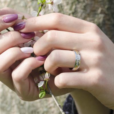Snubní diamantové prsteny z kombinovaného zlata LIMA