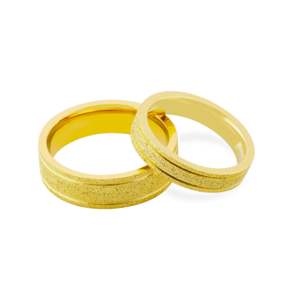 Matné snubní prsteny ze zlata LOJA