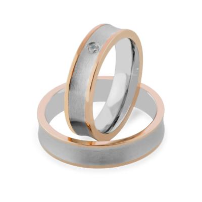 LYRA combination gold diamond wedding rings