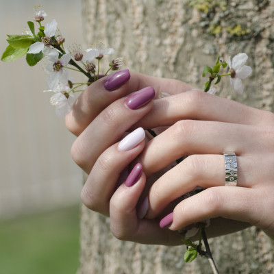 MAFI delicate relief gold diamond wedding rings