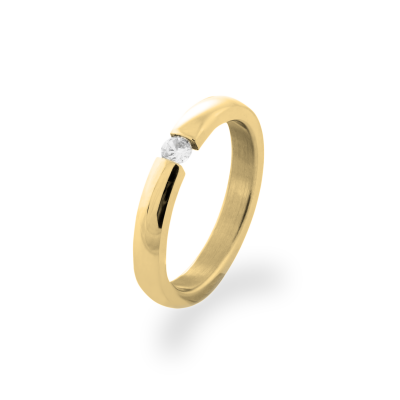 MOLLE  gold and diamond dressing ring - classic for a special day