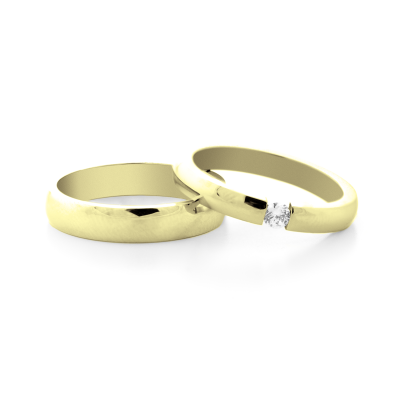 MOLLE  gold and diamond dressing wedding rings - elegance and power
