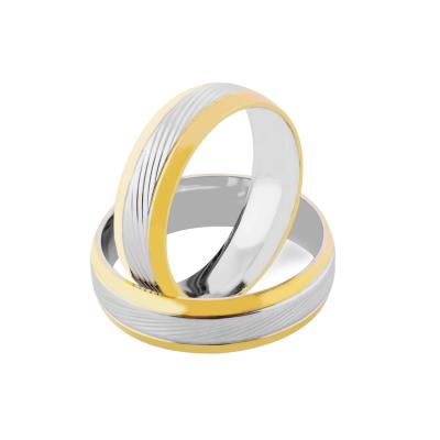 Reliéfní snubní prsteny z kombinovaného zlata NEVA