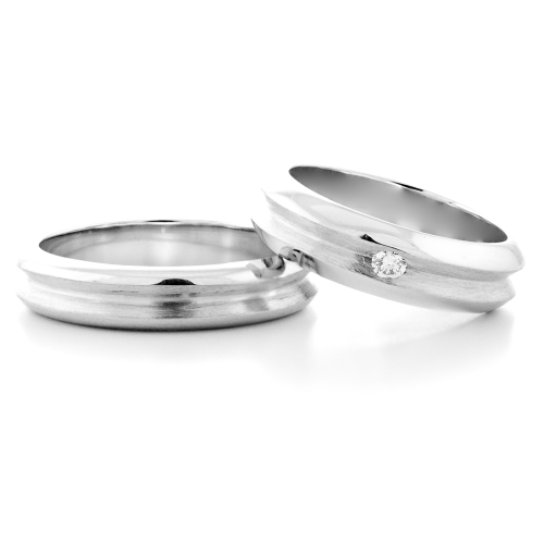 NEXO gold wedding rings - classic for him and for her