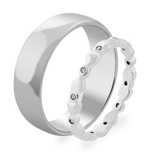 NOTSE heart shape diamond rings