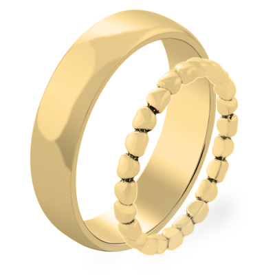 RINDAL heart shape gold wedding ring
